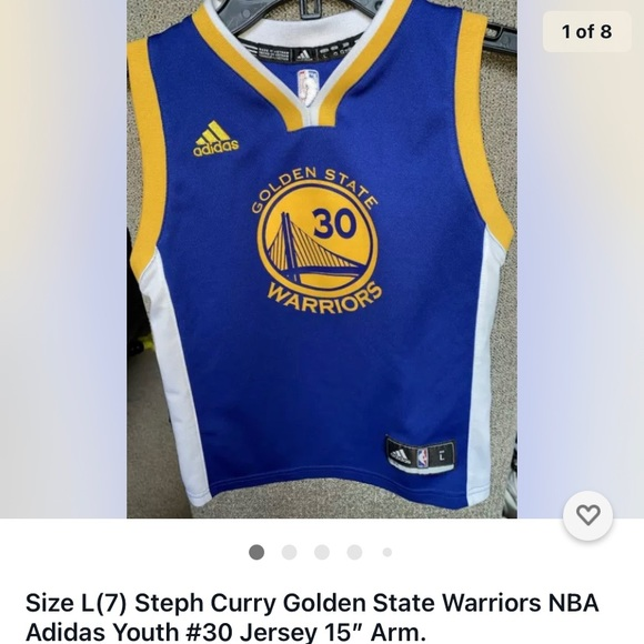 Steph Curry Youth 7 Nba Jersey